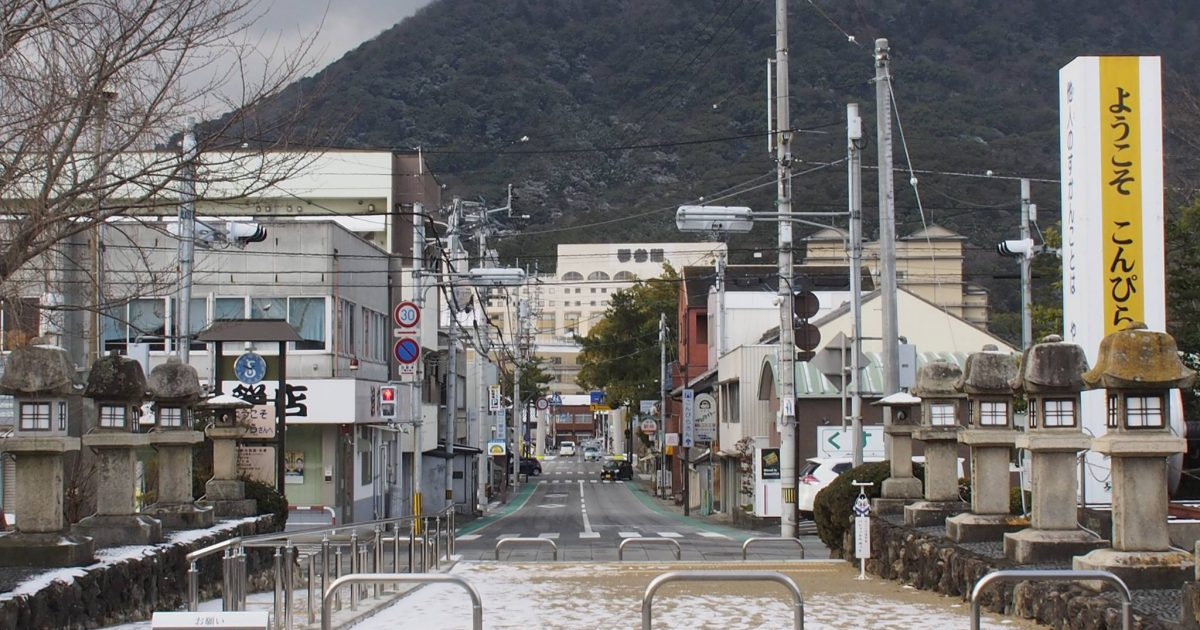 【琴平町】雪でした